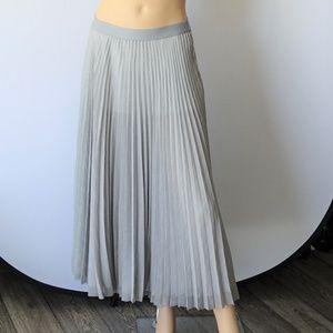 MAX STUDIO Pleated Work Wear Maxi Skirt NWT